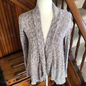 American Eagle Outfitters Cardigan Textured Blue, Pink, Gray, White Sz S